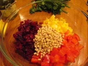восточный салат - компоненты