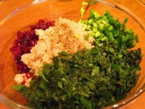 восточный салат - микс зелени