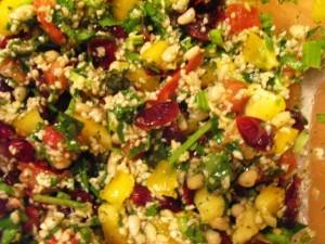восточный салат - перемешиваем