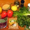 восточный салат - продукты