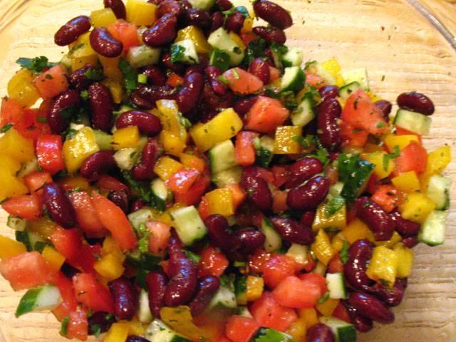 салат из красной фасоли на зиму рецепты с фото