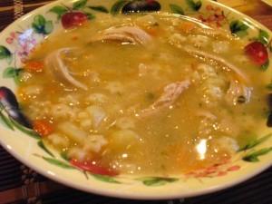 вкусный куриный суп - первое блюдо