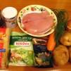 вкусный куриный суп - продукты