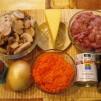 Зразы из фарша - грибная начинка - продукты