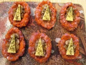 Зразы из фарша - грибная начинка - сыр