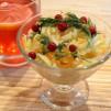салат из капусты с яблоками + морсик