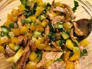 салат с кунжутом - смесь