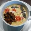 грибной крем суп - с сухариками