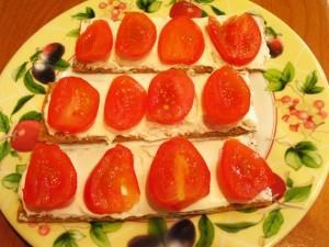 ржаные хлебцы - 1й слой