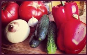 суп гаспачо - овощи