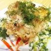 цветная капуста с курицей - порция