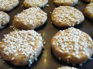 Печенье без масла - кунжут
