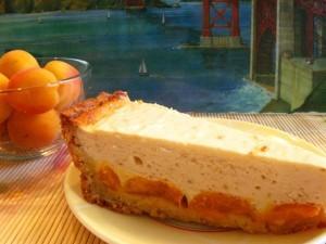 абрикосовый пирог - порция