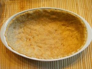 абрикосовый пирог - тесто в форме