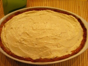 абрикосовый пирог - заливка в форме