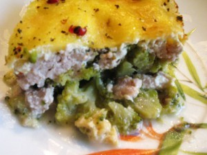 брокколи с курицей - порция