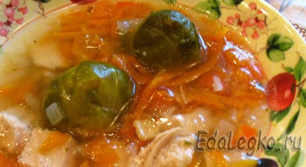 Рецепты с брюссельской капустой — легкий куриный суп
