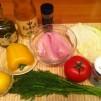салат с капустой и курицей - продукты