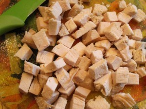 салат из брокколи - курица