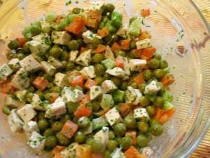 салат из брокколи - смесь