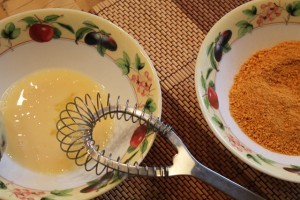 картофельные котлеты из пюре - для обваливания