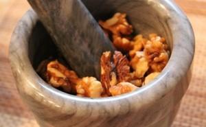 рецепты с персиками - орехи