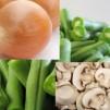 Салат из фасоли с грибами - продукты