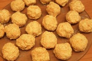 диетическое овсяное печенье - шарики