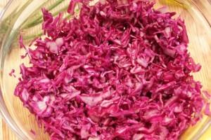 салат из краснокочанной капусты - капуста