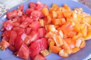 фриттата - овощи
