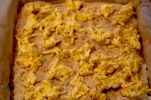 насыпной пирог - масло