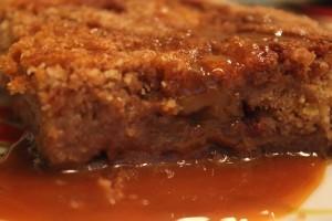 насыпной пирог - в разрезе