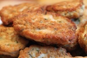 рецепт куриных оладий - одна