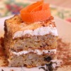 Пирог из моркови - порция