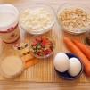 Пирог из моркови - продукты