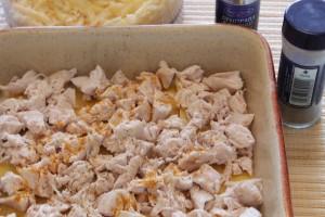 лазанья с курицей - 1 слой