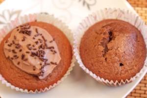 шоколадные кексики - готово