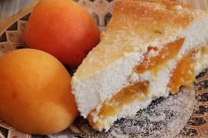 запеканка из творога с фруктами - порция