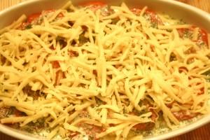 кабачки запеченные с помидорами и сыром - сыр