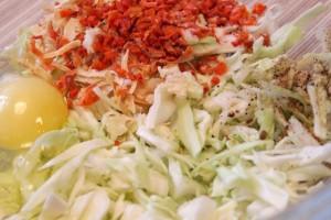 омлет с капустой - компоненты