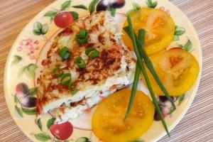 омлет с капустой - порция