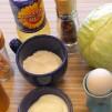 омлет с капустой - продукты