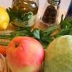 салат с сельдереем и яблоком - продукты