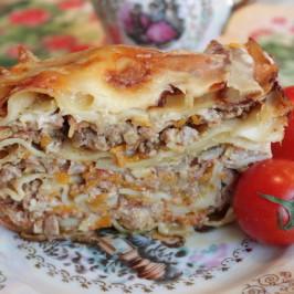 Итальянская лазанья — с двойным соусом