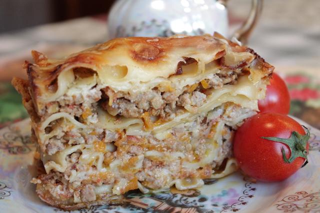 Итальянская лазанья - порция