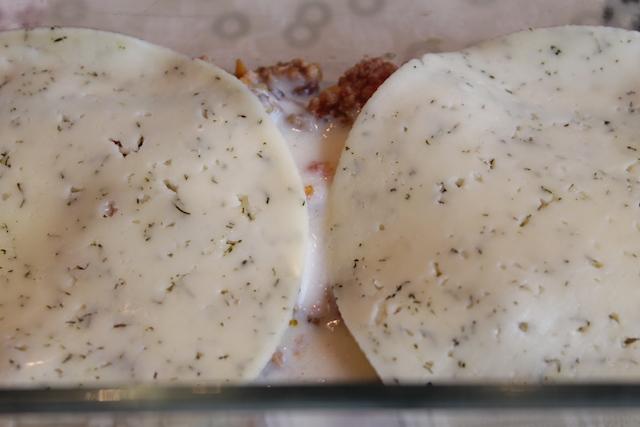 Итальянская лазанья - слой сыра