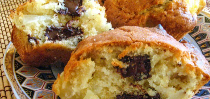 Маффины с кусочками шоколада – и кусочками ананаса