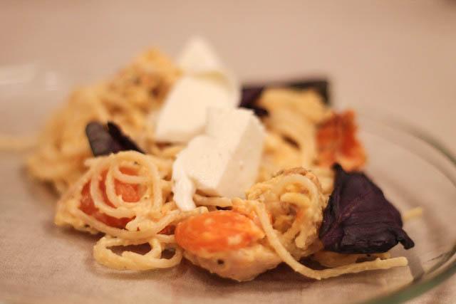 паста с вялеными помидорами - порция