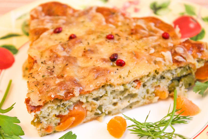 запеканка с овощами - порция