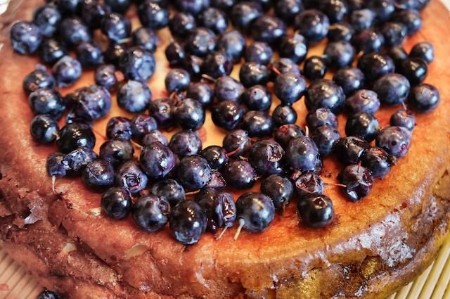 Пирог с голубикой - ягоды